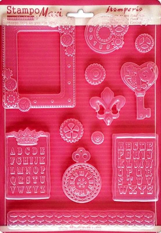 Εύκαμπτο Καλούπι για Σαπούνι-Γύψο 5002203 - 21x29.7cm - Steampunk Γρανάζια