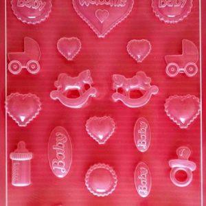 Εύκαμπτο Καλούπι για Σαπούνι-Γύψο 5002252 - 21x29.7cm - Μωρά