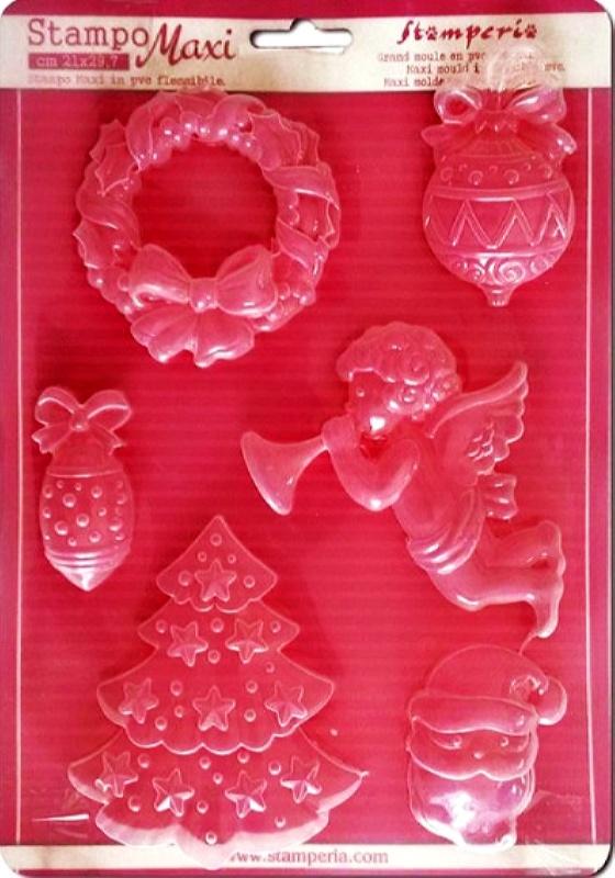 Εύκαμπτο Καλούπι για Σαπούνι-Γύψο 5002254 - 21x29.7cm - Χριστουγεννιάτικα Θέματα