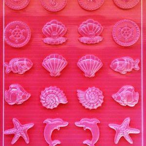 Εύκαμπτο Καλούπι για Σαπούνι-Γύψο 5002282 - 21x29.7cm - Καλοκαιρινά Σχέδια