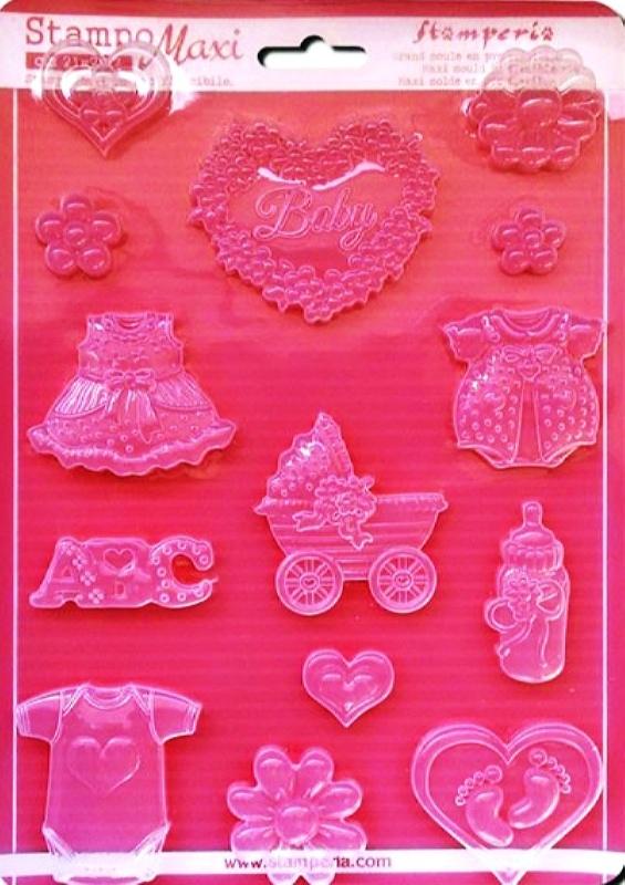 Εύκαμπτο Καλούπι για Σαπούνι-Γύψο 5002283  - 21x29.7cm - Μωρό