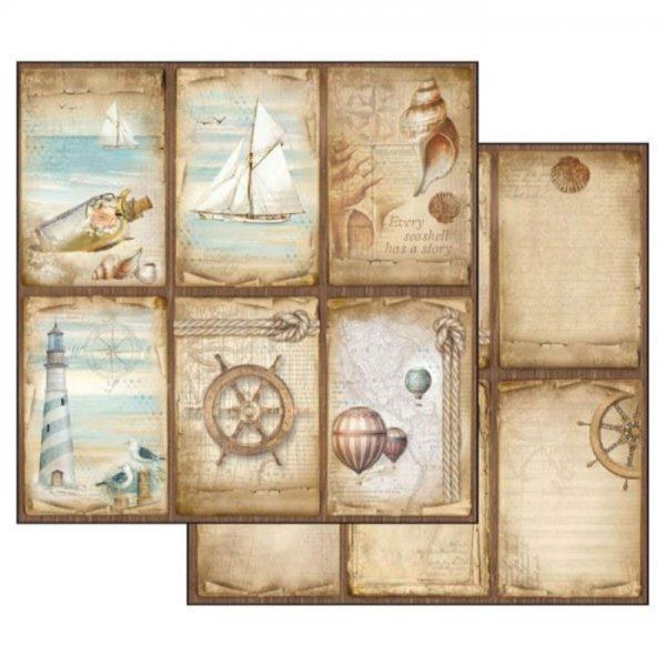 Χαρτί Scrapbooking 5002306 Stamperia Διπλής Όψης - Sea Land Cards - 31x30cm