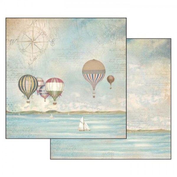 Χαρτί Scrapbooking 5002307 Stamperia Διπλής Όψης - Sea Land Balloons - 31x30cm