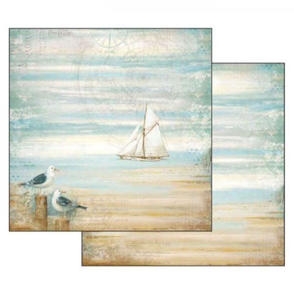 Χαρτί Scrapbooking 5002308 Stamperia Διπλής Όψης - Sea Land Seagulls - 31x30cm
