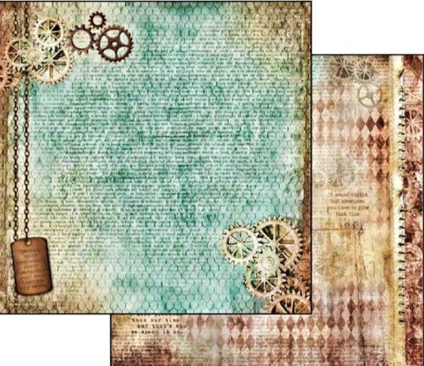 Χαρτί Scrapbooking 5002309 Stamperia Διπλής Όψης - Clockwise Gears - 31x30cm