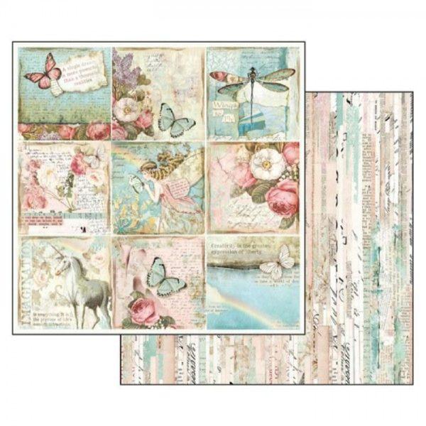 Χαρτί Scrapbooking 5002310 Stamperia Διπλής Όψης - Wonderland Cards - 31x30cm