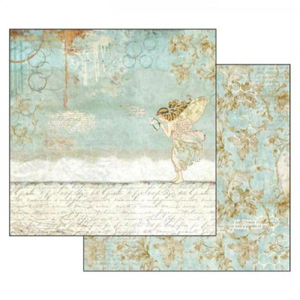 Χαρτί Scrapbooking 5002311 Stamperia Διπλής Όψης - Wonderland Fairy - 31x30cm