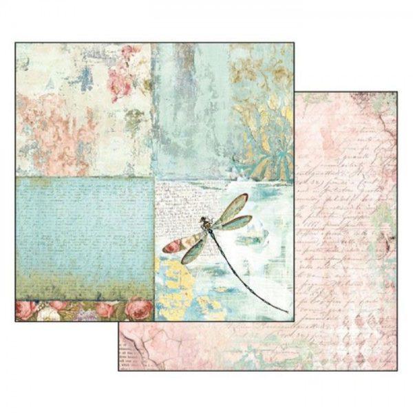 Χαρτί Scrapbooking 5002312 Stamperia Διπλής Όψης - Wonderland Dragonfly - 31x30cm