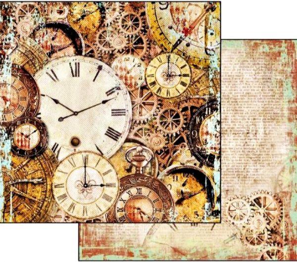 Χαρτί Scrapbooking 5002313 Stamperia Διπλής Όψης - Clockwise Clock - 31x30cm