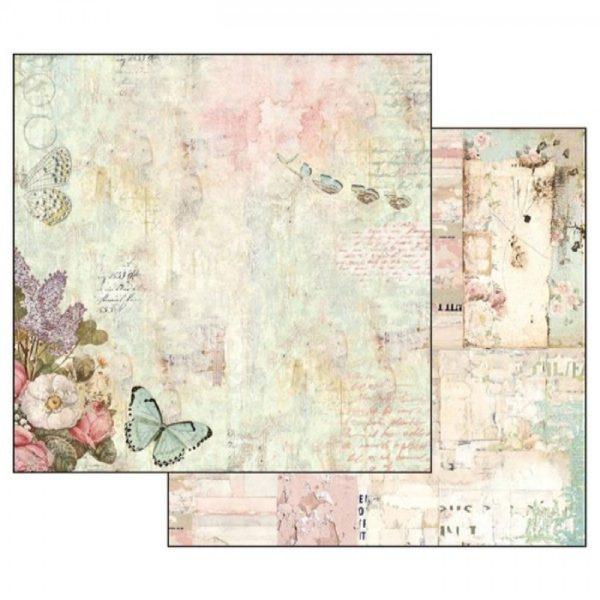Χαρτί Scrapbooking 5002317 Stamperia Διπλής Όψης - Wonderland Flowers & Butterflies - 31x30cm