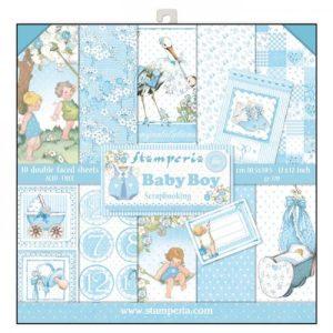 Σετ 10 Χαρτιά 5002321 Scrapbooking Stamperia Διπλής Όψης - Baby Boy - 30x30cm