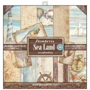Σετ 10 Χαρτιά 5002322 Scrapbooking Stamperia Διπλής Όψης - Sea Land - 30x30cm