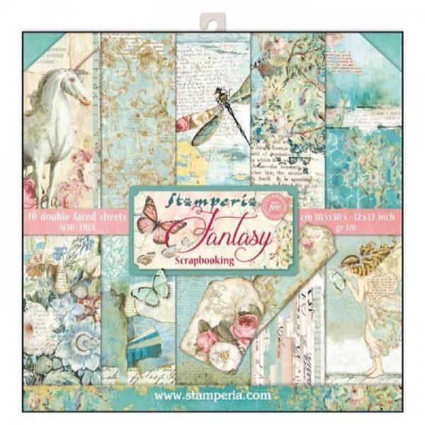 Σετ 10 Χαρτιά 5002323 Scrapbooking Stamperia Διπλής Όψης - Wonderland - 30x30cm