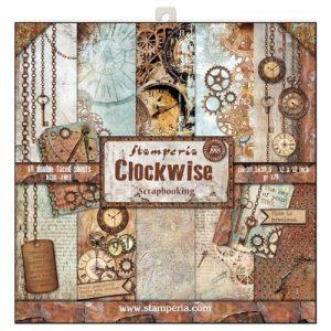 Σετ 10 Χαρτιά 5002324 Scrapbooking Stamperia Διπλής Όψης - Clockwise - 30x30cm