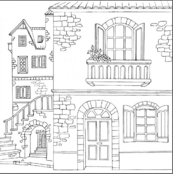 Ριζόχαρτο Χαρτοπετσέτας 5002375 - Σπίτια - 50x50cm