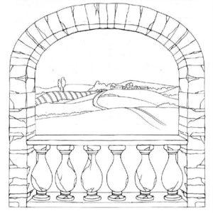 Ριζόχαρτο Χαρτοπετσέτας 5002376  - Θέα απ'το Παράθυρο - 50x50cm