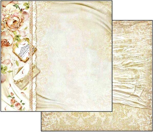 Χαρτί Scrapbooking 5002401 Stamperia Διπλής Όψης  - Παιώνιες - 31x30cm