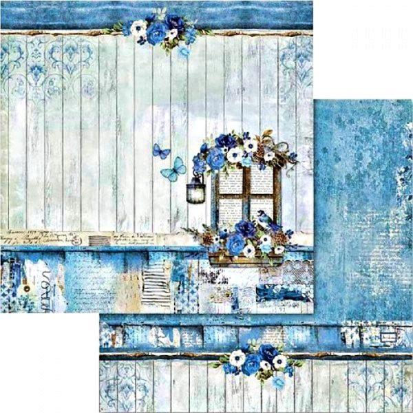 Χαρτί Scrapbooking 5002425 Stamperia Διπλής Όψης  - Blue Land - 31x30cm