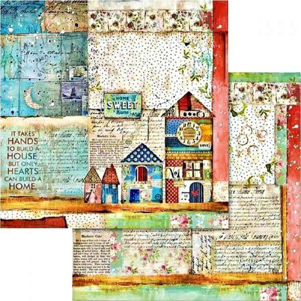 Χαρτί Scrapbooking 5002434 Stamperia Διπλής Όψης  - Patchwork & Cards - 31x30cm