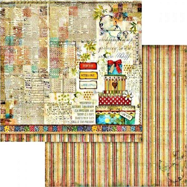 Χαρτί Scrapbooking 5002435 Stamperia Διπλής Όψης  - Patchwork & Presents - 31x30cm