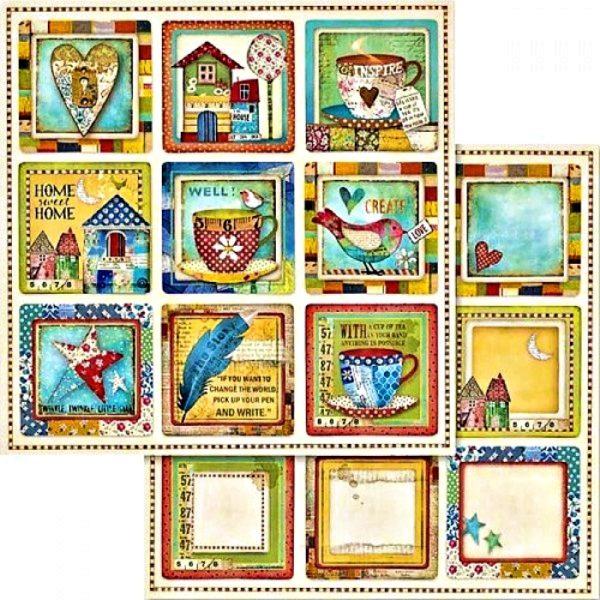 Χαρτί Scrapbooking 5002436 Stamperia Διπλής Όψης  - Patchwork & Coasters - 31x30cm