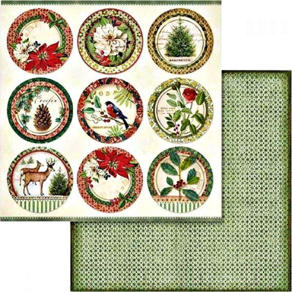 Χαρτί Scrapbooking 5002439 Stamperia Διπλής Όψης  - Βοτανικά Σουβέρ - 31x30cm