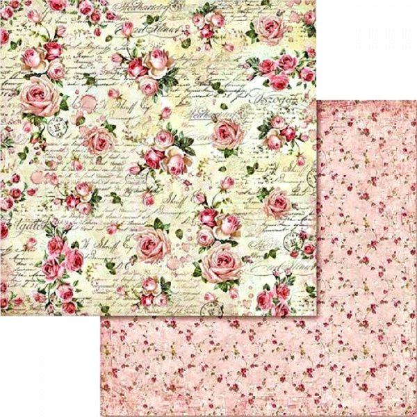 Χαρτί Scrapbooking 5002443 Stamperia Διπλής Όψης  - Μικρά Τριαντάφυλλα - 31x30cm