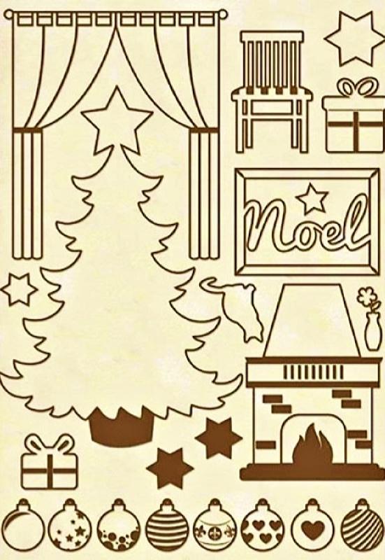Ξύλινα Προ-κομμένα Διακοσμητικά Stamperia 5002448 - Α5 Χριστουγεννιάτικο Σπίτι