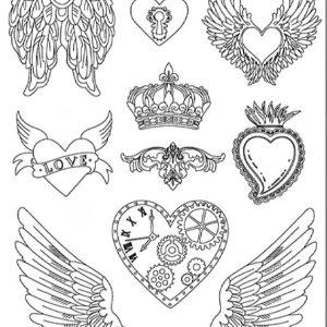 Εύκαμπτο Καλούπι Stamperia 5002458 για Σαπούνι-Γύψο  - 21x29.7cm - Καρδιές & Φτερά