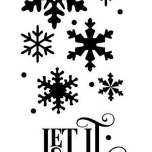 Stencil Stamperia Mix Media 5002467 - 12x25cm - Let it Snow