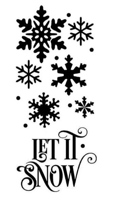 Stencil Stamperia Mix Media 5002467 - 12x25cm - Let it Snow