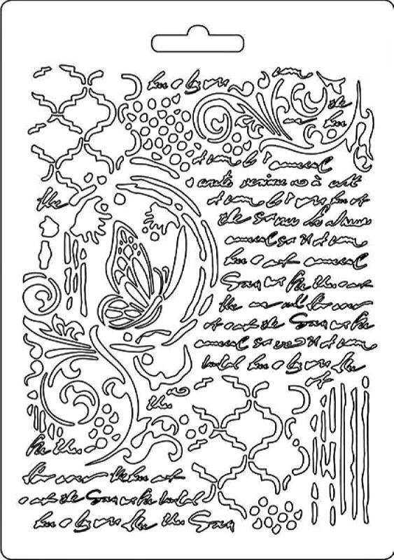 Εύκαμπτο Καλούπι Stamperia 5002551 - A5 - Πεταλούδα & Γράμματα