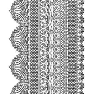 Εύκαμπτο Καλούπι Stamperia 5002555  - A5 - Γιρλάντες