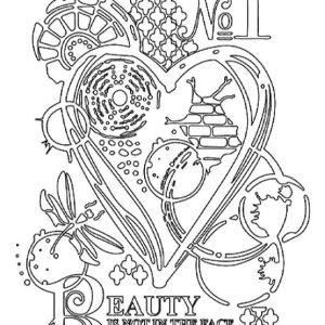 Εύκαμπτο Καλούπι Stamperia 5002556 - A5 - Καρδιά