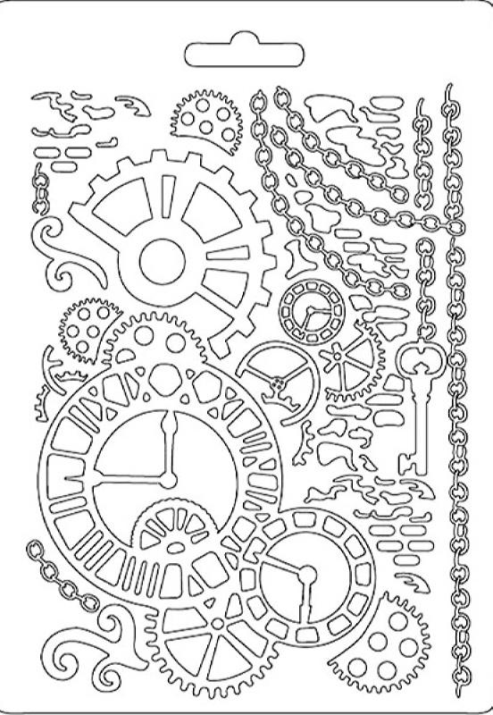 Εύκαμπτο Καλούπι Stamperia 5002558 - A5 - Ρολόι Γρανάζια