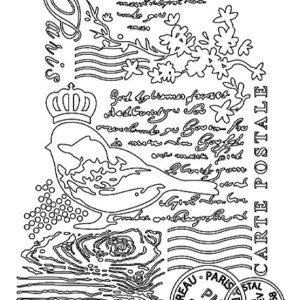Εύκαμπτο Καλούπι Stamperia 5002559 - A5 - Πουλί
