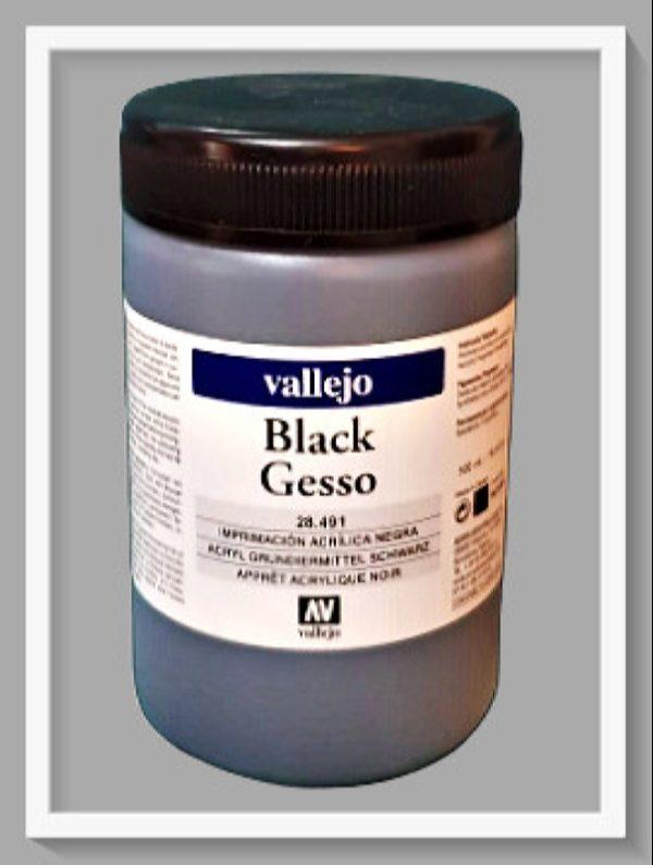 Γκέσο Mαύρο Vallejo VAL28491 500ml