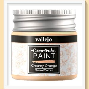 Vallejo Carrot Cake Matt Acrylic Paint 406 Creamy Orange