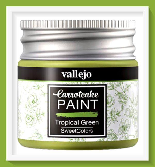 Vallejo Carrot Cake Matt Acrylic Paint 411 Tropical Green