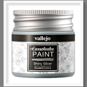 Vallejo Carrot Cake Matt Acrylic Paint 412 Shiny Silver