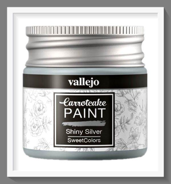 Vallejo Carrot Cake Matt Acrylic Paint 412 Shiny Silver