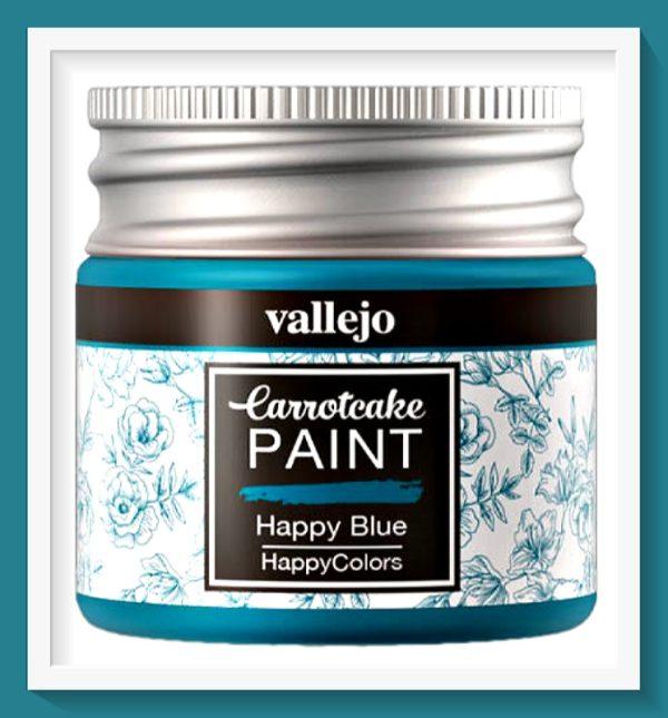 Vallejo Carrot Cake Matt Acrylic Paint 414 Happy Blue