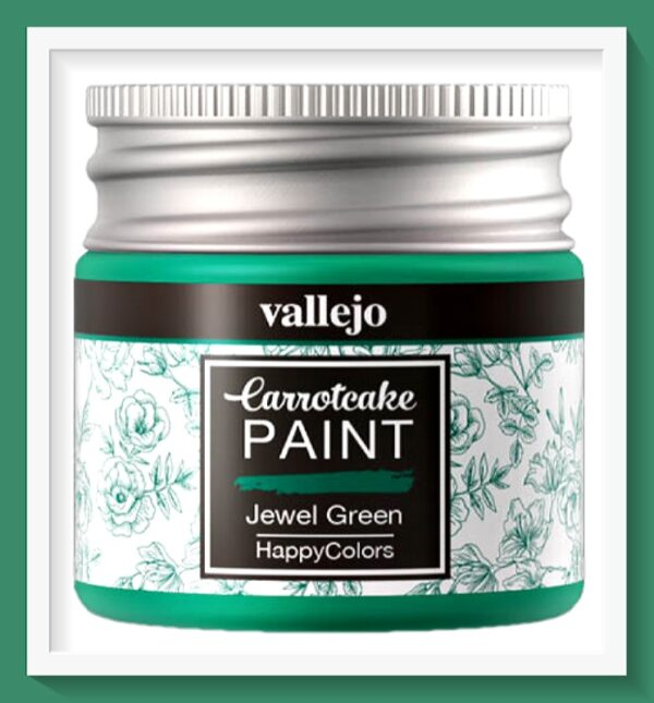 Vallejo Carrot Cake Matt Acrylic Paint 416 Jewel Green