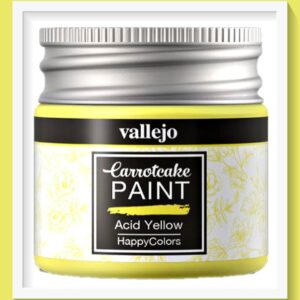 Vallejo Carrot Cake Matt Acrylic Paint 418 Acid Yellow
