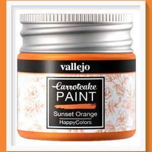 Vallejo Carrot Cake Matt Acrylic Paint 419 Sunset Orange