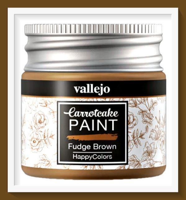 Vallejo Carrot Cake Matt Acrylic Paint 420 Fudge Brown