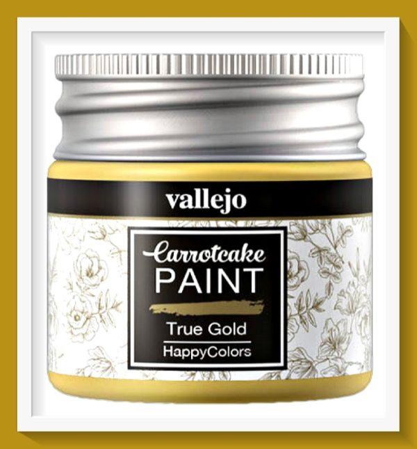 Vallejo Carrot Cake Matt Acrylic Paint 423 True Gold