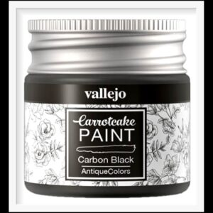 Vallejo Carrot Cake Matt Acrylic Paint 425 Carbon Black
