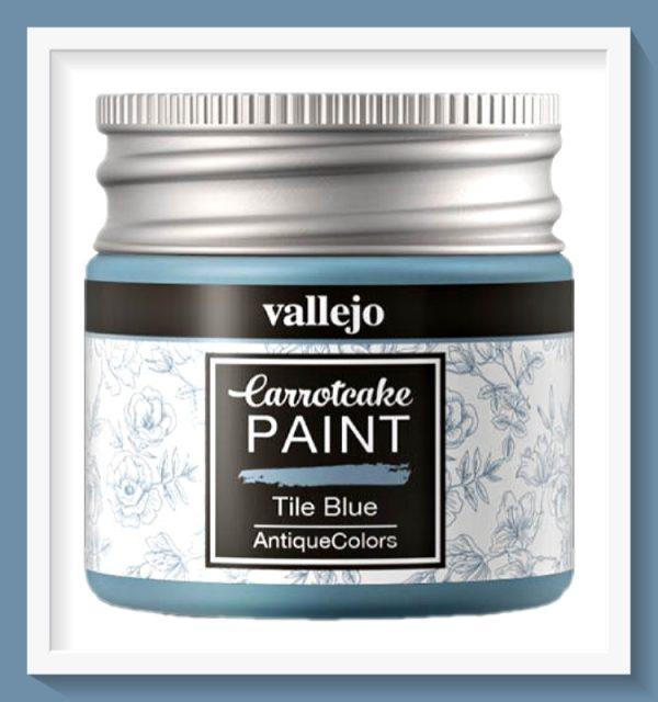 Vallejo Carrot Cake Matt Acrylic Paint 426 Tile Blue