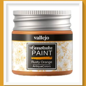 Vallejo Carrot Cake Matt Acrylic Paint 429 Rusty Orange